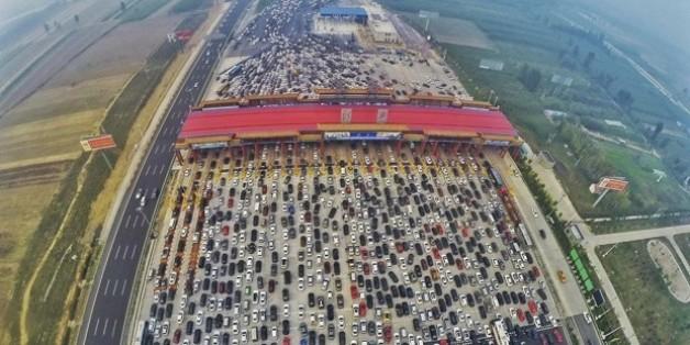 Horror-Stau in China: Der Albtraum eines jeden Autofahrers