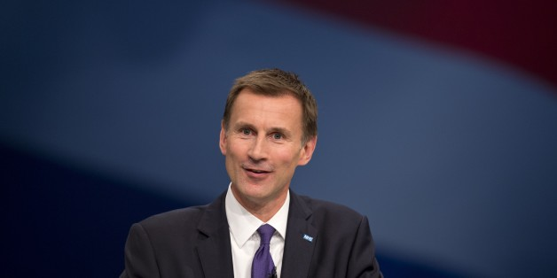 British Secretary of State for Health Jeremy Hunt addresses delegates on the third day of the annual Conservative party conference in Manchester, north west England on October 6, 2015. AFP PHOTO / OLI SCARFF        (Photo credit should read OLI SCARFF/AFP/Getty Images)