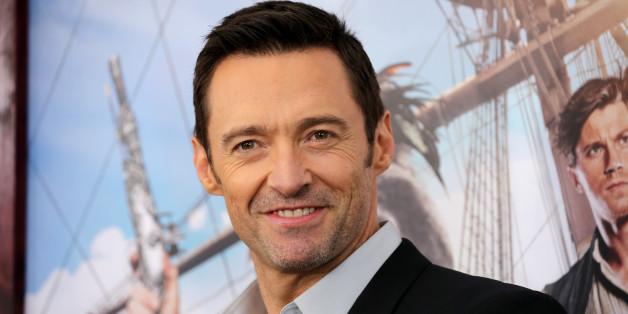 """Familienmensch und Schauspielstar: Hugh Jackman bei der Premiere von """"Pan"""""""