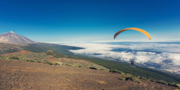 Paragliding im Süden von Teneriffa