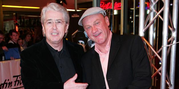Robert Treutel alias Bodo Bach mit Frank Elstner auf einer Filmpremiere