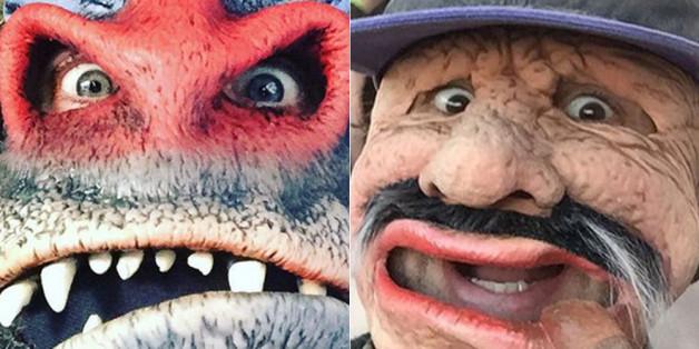 Gut getarnt: Jared Leto als Mandrill (l.) und Mark Ruffalo als Groucho (r.)