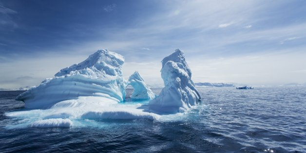 Antarctica, Massive iceberg in spring sunshine floating in Gerlache Strait along Antarctic Peninsula