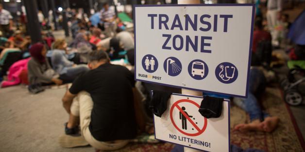 Eine inzwischen aufgelöste Transitzone in Ungarn
