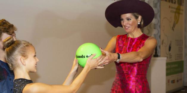 """Königin Máxima bei der Eröffnung der """"Hands On!""""-Konferenz für Kinder"""