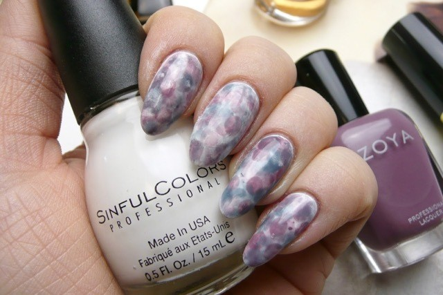 watercolour nail art