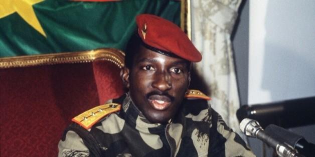 Le président défunt du Burkina Faso, Thomas Sankara, le 7 février 1986 à Paris  © AFP/Archives PASCAL GEORGE