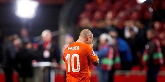 Der niederländische Spieler Wesley Sneijder nach dem verlorenen spiel gegen Tschechien