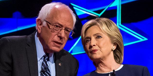 LAS VEGAS, NV - October 13: Bernie Sanders and Hillary Clinton pictured at the 2015 CNN Democratic Presidential Debate at Wynn Resort in Las Vegas, NV on October 13, 2015. Credit: Erik Kabik Photography/ MediaPunch/IPX