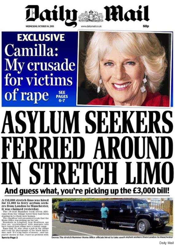 daily mail limo asylum