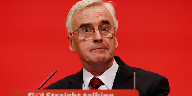Shadow Chancellor John McDonnell making his keynote speech to the Labour Party annual conference in the Brighton Centre in Brighton, Sussex.
