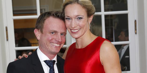 Christine Theiss mit ihrem Mann, dem Kardiologen Hans.