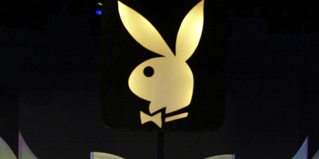FILE - This file photo made June 19, 2004, shows the Playboy logo in Los Angeles. Penthouse magazine corporate parent FriendFinder Networks Inc. said Thursday, July 15, 2010, it will offer $210 million for Hugh Hefner's Playboy Enterprises Inc. despite Hefner's insistence that he does not intend to sell the company. (AP Photo/Damian Dovarganes, File)