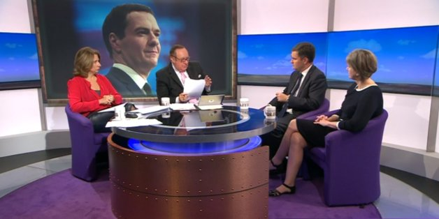 David Gauke, second from right, pressed on tax credits on the BBC today