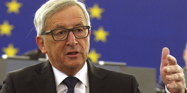 European Commission's President Jean-Claude Juncker announces quote plan for refugees as he makes his State of the Union address to the European Parliament in Strasbourg, eastern France, on September 9, 2015. Juncker urged European Union (EU) states on September 9 to take 'bold' action, as he unveiled a major plan for dealing with Europe's worst refugee crisis since World War II. 'Now is not the time to take fright, it is time for bold determined action for the European Union,' Juncker said. AFP