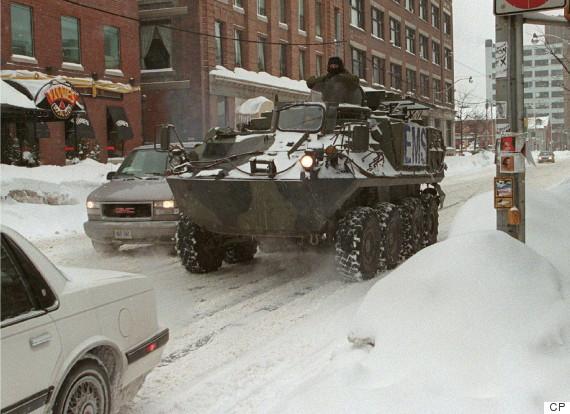toronto army snow