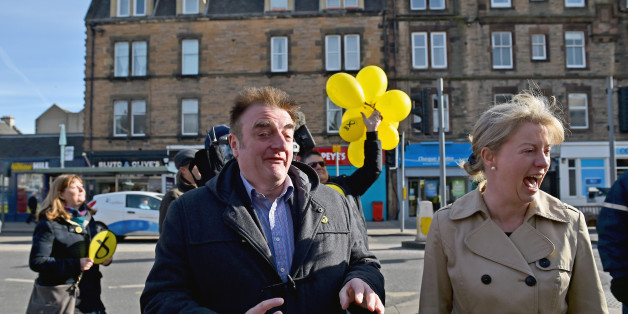 EDINBURGH, SCOTLAND - APRIL 02:  SNP General Election candidate for Edinburgh East Tommy Sheppard is joined by Scotland's Health Secretary Shona Robertson during campaigning on April 2, 2015 in Portobello, Scotland. Tonight will see a televised leaders election debate with seven political parties, including Prime Minister David Cameron, Deputy Prime Minister Nick Clegg, Labour party leader Ed Miliband, UKIP's Nigel Farage and the leaders of the Green Party, Plaid Cymru and SNP leader Nicola Sturgeon. The debate will be the only time that David Cameron and Ed Miliband will face each other before polling day on May 7th.  (Photo by Jeff J Mitchell/Getty Images)