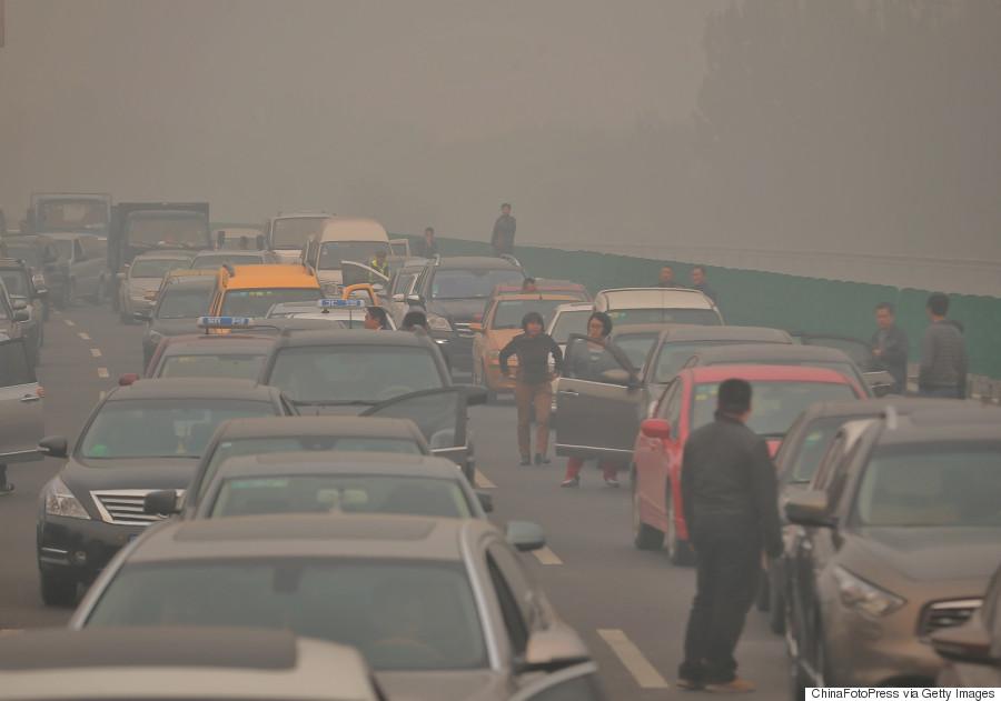 traffic jam smog