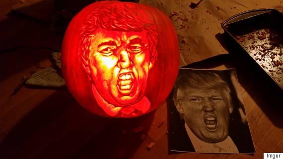 donald trump pumpkin