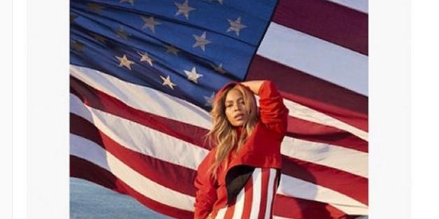 Sexy! Beyoncé zeigt Flagge!