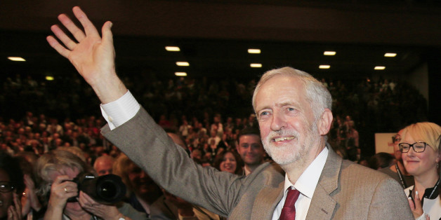Labour Leader Jeremy Corbyn takes the applause of delegates following his keynote speech during the third day of the Labour Party conference at the Brighton Centre in Brighton, Sussex.