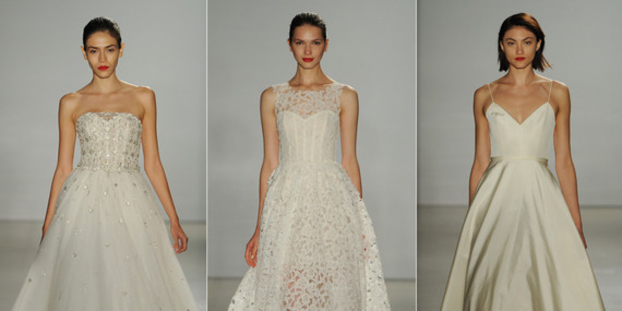 new amsale wedding dresses for fall 2016 are modern and romantic