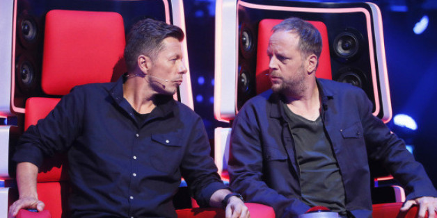 "Smudo (r.) und Michi Beck bei ""The Voice of Germany"" in ihren Luxus-Stühlen"