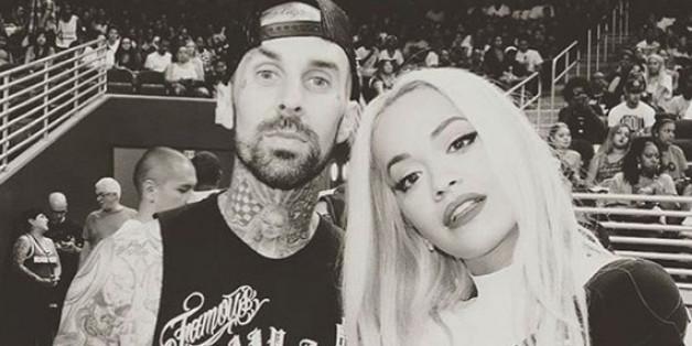 Dieses gemeinsam Bild von Travis Barker und Rita Ora postete die Sängerin vom Kennenlern-Tag in L.A.