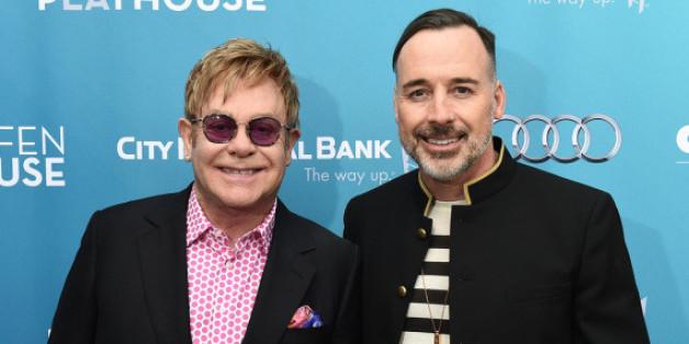 Elton John und David Furnish bei einer Veranstaltung in Los Angeles