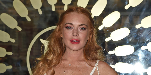 Photo by: KGC-143/STAR MAX/IPx 2015 7/1/15 Lindsay Lohan at the launch of the Magnum Pleasure Store in Covent Garden. (London, England, UK)