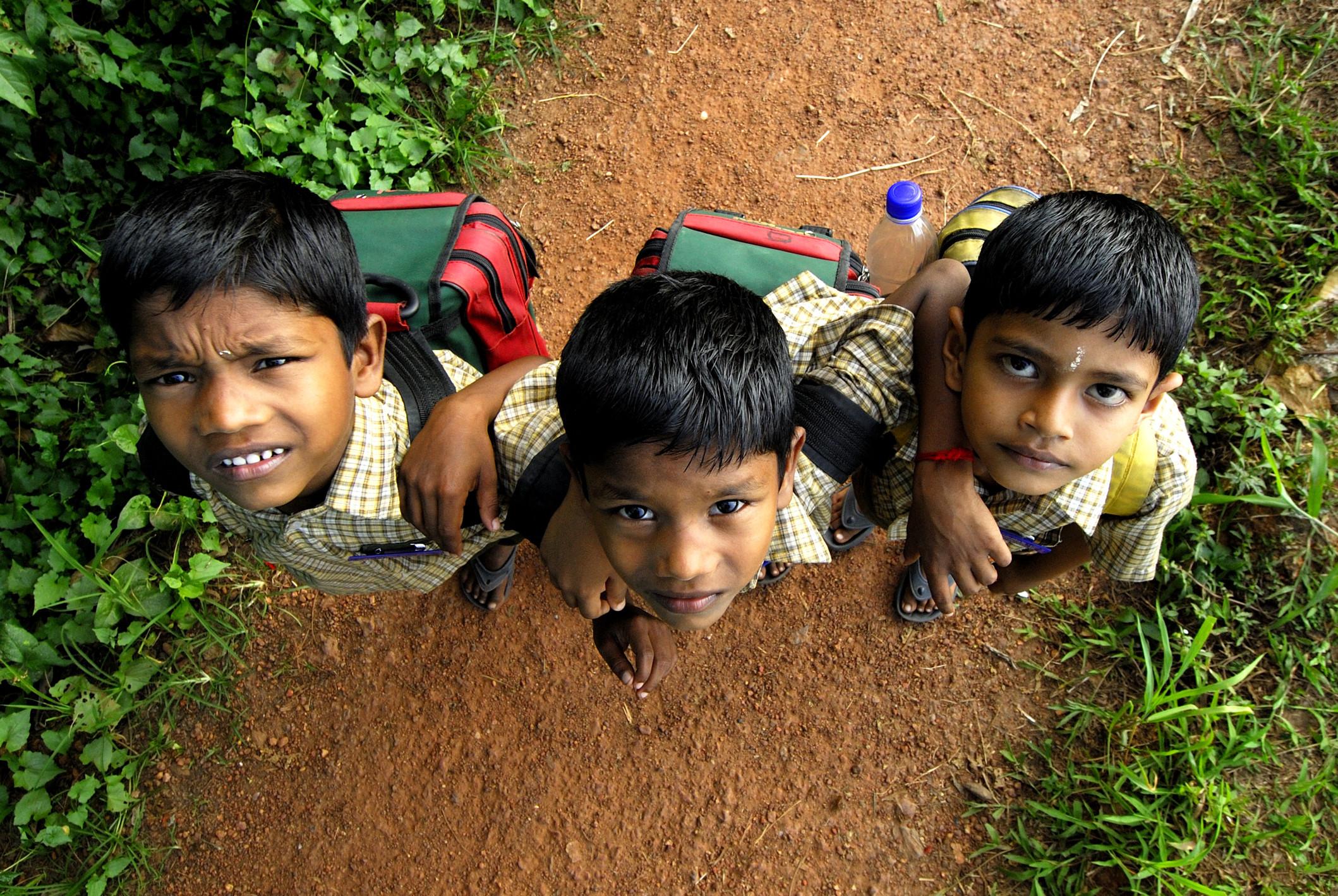 school children india
