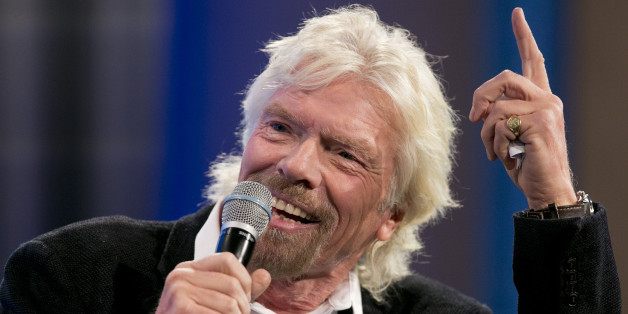 "Richard Branson, Founder of Virgin Group and Virgin Unite, participates in a discussion on ""Looking to the Next Frontier"" at the Clinton Global Initiative Monday, Sept. 28, 2015, in New York. (AP Photo/Mark Lennihan)"