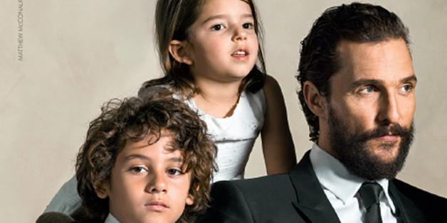 McConaughey mit seinen Kindern.
