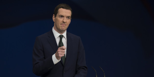 Britain's Chancellor of the Exchequer George Osborne speaks during the Conservative Party Conference, in Manchester, England, Monday Oct. 5, 2015. The ruling Conservative Party continue their annual conference on Monday, seemingly buoyant after their electoral triumph in May. (AP Photo/Jon Super)
