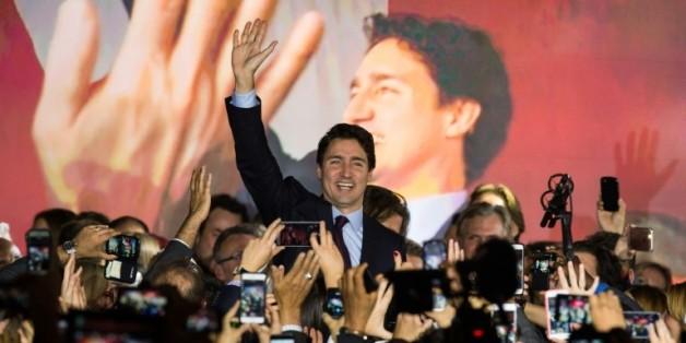 Justin Trudeau le 20 octobre 2015 à Montreal