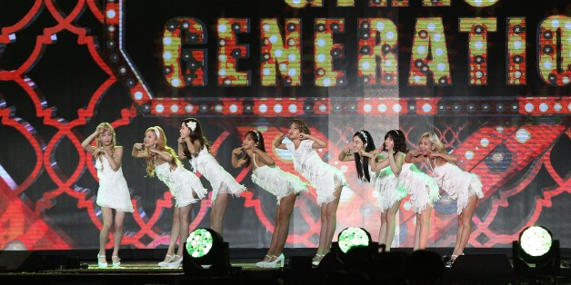 South Korean pop group Girls' Generation performs on the stage during the K-Pop Super Concert in Seoul, South Korea, Saturday, Sept. 5, 2015. (AP Photo/Ahn Young-joon)