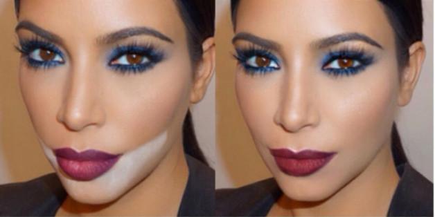 Kim Kardashian schwört auf Contouring und modelliert damit ihr Gesicht