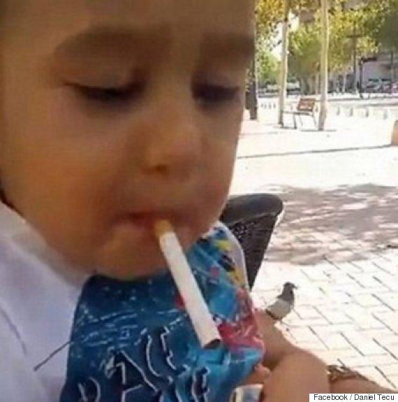 toddler smoking