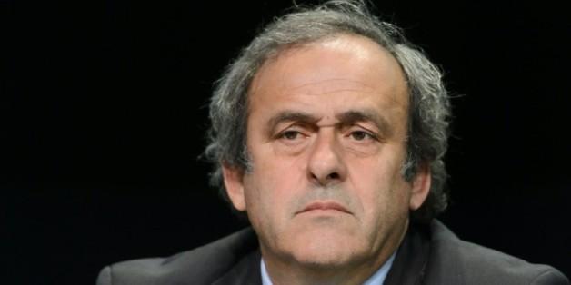 Michel Platini, président de l'UEFA, en conférence de presse lors du 65e congrès de la Fifa le 10 octobre 2015 à Zurich