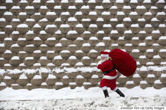 white christmas santa