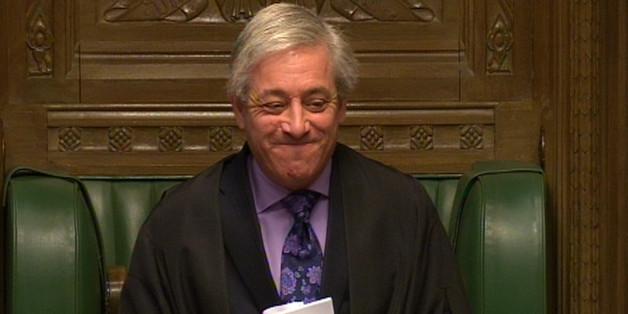 Speaker of the House of Commons John Bercow smiles
