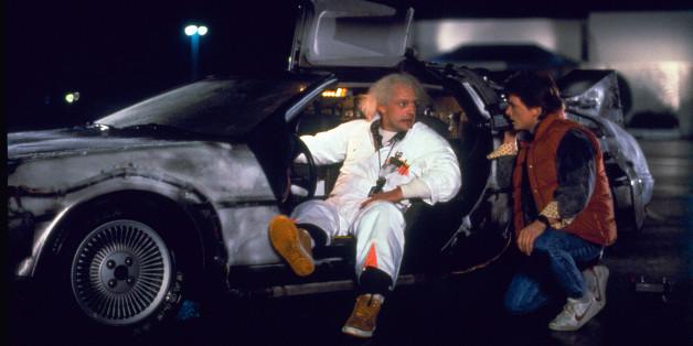 """Dr. Emmett Brown Marty McFly im ersten Teil von """"Back to the Future"""""""