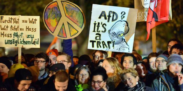 Die Zahl der Gegendemonstranten bei den regelmäßigen AfD-Demos in Erfurt hat sich verdoppelt
