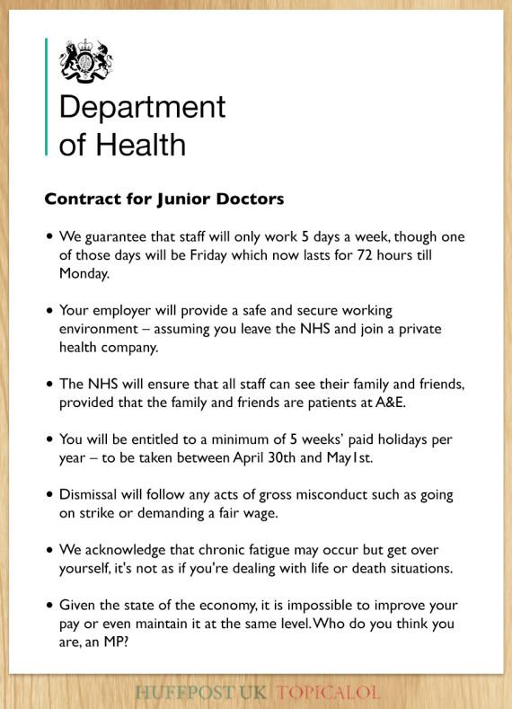 junior doctors contract leaked