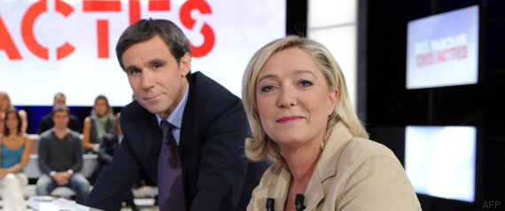 david pujadas marine le pen