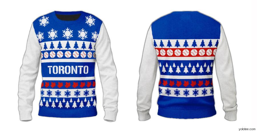 blue jays ugly christmas sweater