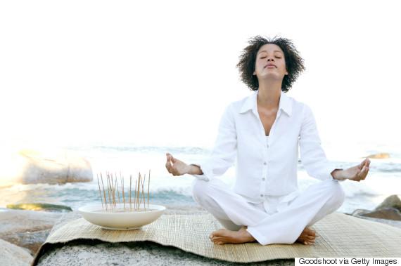 meditation black woman