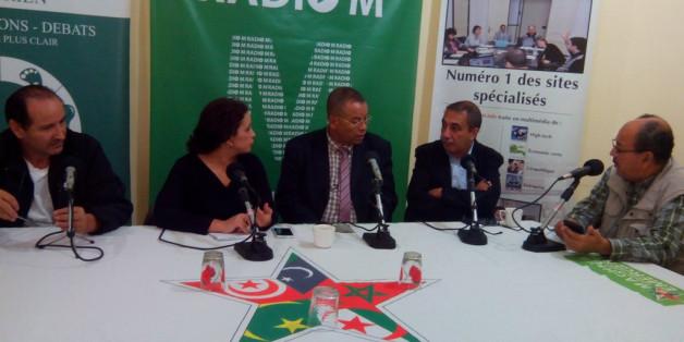 Abdelkrim Ghezali, Souhila Benali, Abed Charef, Ihsane El Kadi et Saïd Djaafer au Café Presse Politique de Radio M