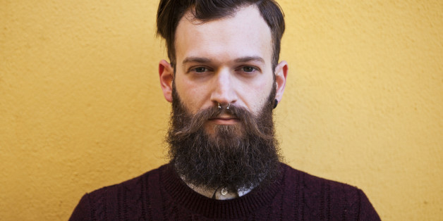 Portrait of a hipster man with beard.