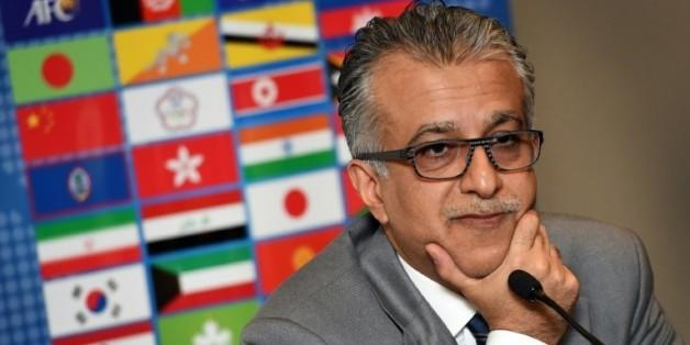 Cheikh Salmane ben Ibrahim Al Khalifa, président de la Confédération asiatique de football, le 9 janvier 2015 à Melbourne